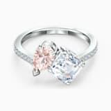 Prsten Attract Soul, růžový, rhodiovaný - Swarovski, 5514541