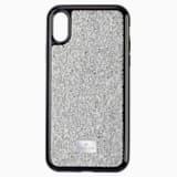 Pouzdro na chytrý telefon Glam Rock, iPhone® XS Max, stříbrné - Swarovski, 5515013