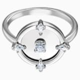 North motívumos gyűrű, fehér, ródium bevonattal - Swarovski, 5515023