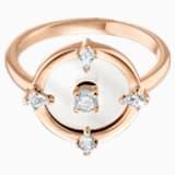 Prsten s motivem North, Bílý, Pozlacený růžovým zlatem - Swarovski, 5515035