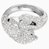 Polar Bestriary Wolf koktélgyűrű, többszínű, ródium bevonattal - Swarovski, 5515096