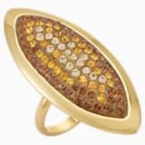 Prsten Evil Eye, velký, hnědý, pozlacený - Swarovski, 5515311