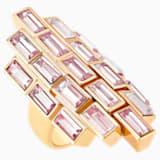 Fluid Cocktail Ring, Violet, Rose-gold tone plated - Swarovski, 5515312