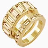 Fluid Stacking Ring, Brown, Gold-tone plated - Swarovski, 5515313
