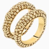 Tigris Ring Set, Gold tone, Gold-tone plated - Swarovski, 5515316