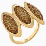 Koktejlový prsten Evil Eye, hnědý, pozlacený - Swarovski, 5515319