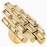 Fluid Cocktail Ring, Brown, Gold-tone plated - Swarovski, 5515320