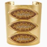 Evil Eye Statement Cuff, Brown, Gold-tone plated - Swarovski, 5515328