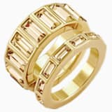 Fluid Stacking Ring, Brown, Gold-tone plated - Swarovski, 5515331