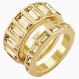 Vícedílný prsten Fluid, hnědý, pozlacený - Swarovski, 5515331