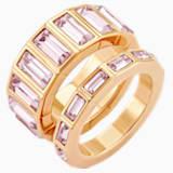 Vícedílný prsten Fluid, fialový, pozlacený růžovým zlatem - Swarovski, 5515359