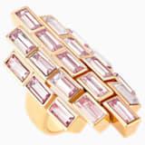 Fluid Cocktail Ring, Violet, Rose-gold tone plated - Swarovski, 5515360