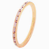 Fluid Bangle, Violet, Rose-gold tone plated - Swarovski, 5515361