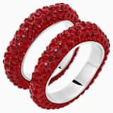Tigris Stacking Ring, Red, Palladium plated - Swarovski, 5515363