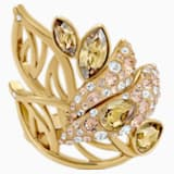 Graceful Bloom Cocktail Ring, braun, Vergoldet - Swarovski, 5515402