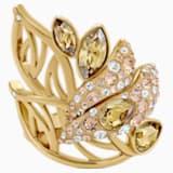 Graceful Bloom Kokteyl Yüzüğü, Kahverengi, Altın rengi kaplama - Swarovski, 5515402
