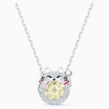 Naszyjnik Swarovski Sparkling Dance Cat, lekki, wielokolorowy, powlekany rodem - Swarovski, 5515438