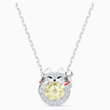 Swarovski Sparkling Dance Cat nyaklánc, világos, többszínű, ródium bevonattal - Swarovski, 5515438