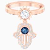 Anello con motivo Swarovski Symbolic, azzurro, Placcato oro rosa - Swarovski, 5515441