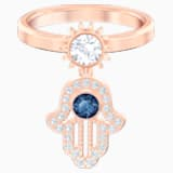 Swarovski Symbolic 圖形戒指, 藍色, 鍍玫瑰金色調 - Swarovski, 5515442