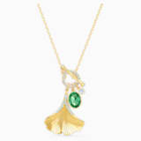 Stunning Ginko 项链, 绿色, 镀金色调 - Swarovski, 5515465