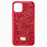 Pouzdro na chytrý telefon Glam Rock, iPhone® 11 Pro, červené - Swarovski, 5515625