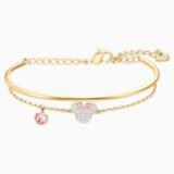 Bracelet-jonc Mickey & Minnie, blanc, Métal doré - Swarovski, 5515627