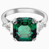 Attract 鸡尾酒戒指, 绿色, 镀铑 - Swarovski, 5515708