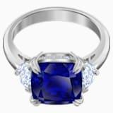 Δαχτυλίδι Cocktail Attract, μπλε, επιροδιωμένο - Swarovski, 5515710