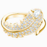 Nice Motif Ring, White, Gold-tone plated - Swarovski, 5515757