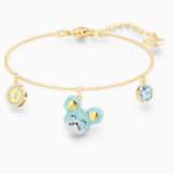 Little 手鏈, 海藍色, 多種金屬潤飾 - Swarovski, 5515770