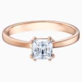 Attract 圖形戒指, 白色, 鍍玫瑰金色調 - Swarovski, 5515777