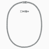 Tennis Deluxe Kolye, Siyah, Rutenyum kaplama - Swarovski, 5517113