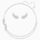 Zestaw Nice, biały, powlekany rodem - Swarovski, 5517161