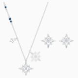 Zestaw Star z kolekcji Swarovski Symbolic, biały, powlekany rodem - Swarovski, 5517182