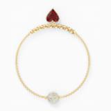 Strand Swarovski Remix Collection Heart, rouge, métal doré - Swarovski, 5517641