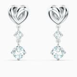 Pendientes Lifelong Heart, blanco, baño de rodio - Swarovski, 5517943