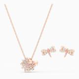 Eternal Flower Dragonfly Set, Pink, Rose-gold tone plated - Swarovski, 5518141