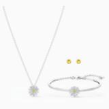 Eternal Flower 套裝, 黃色, 多種金屬潤飾 - Swarovski, 5518146