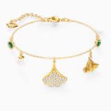 Stunning Ginko karkötő, zöld, arany árnyalatú bevonattal - Swarovski, 5518173