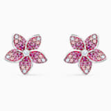 Orecchini Tropical Flower, rosa, placcato rodio - Swarovski, 5519254
