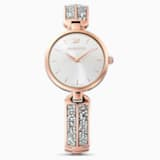 Reloj Dream Rock, brazalete de metal, tono plateado, PVD tono oro rosa - Swarovski, 5519306