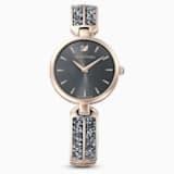 Dream Rock Uhr, Metallarmband, grau, champagne vergoldetes PVD-Finish - Swarovski, 5519315