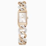 Cocktail Watch, Metal bracelet, Gold tone, Champagne-gold tone PVD - Swarovski, 5519321