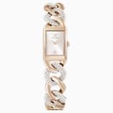Koktejlové hodinky, s kovovým páskem, zlaté, PVD v odstínu barvy Champagne - Swarovski, 5519321