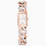 Zegarek koktajlowy, bransoleta z metalu, w odcieniu różowego złota, powłoka PVD w odcieniu różowego złota - Swarovski, 5519327