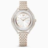 Zegarek Crystalline Aura, bransoleta z metalu, w odcieniu złota, powłoka PVD w odcieniu szampańskiego złota - Swarovski, 5519456
