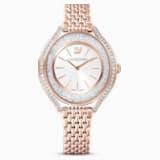 Ρολόι Crystalline Aura, μεταλλικό μπρασελέ, χρυσή ροζ απόχρωση, PVD σε χρυσή ροζ απόχρωση - Swarovski, 5519459