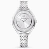 Ρολόι Crystalline Aura, μεταλλικό μπρασελέ, ασημί απόχρωση, ανοξείδωτο ατσάλι - Swarovski, 5519462