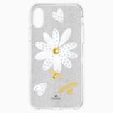 Pouzdro na chytré telefony Eternal Flower s ochranným okrajem, iPhone® X/XS, světlé, vícebarevné - Swarovski, 5520597